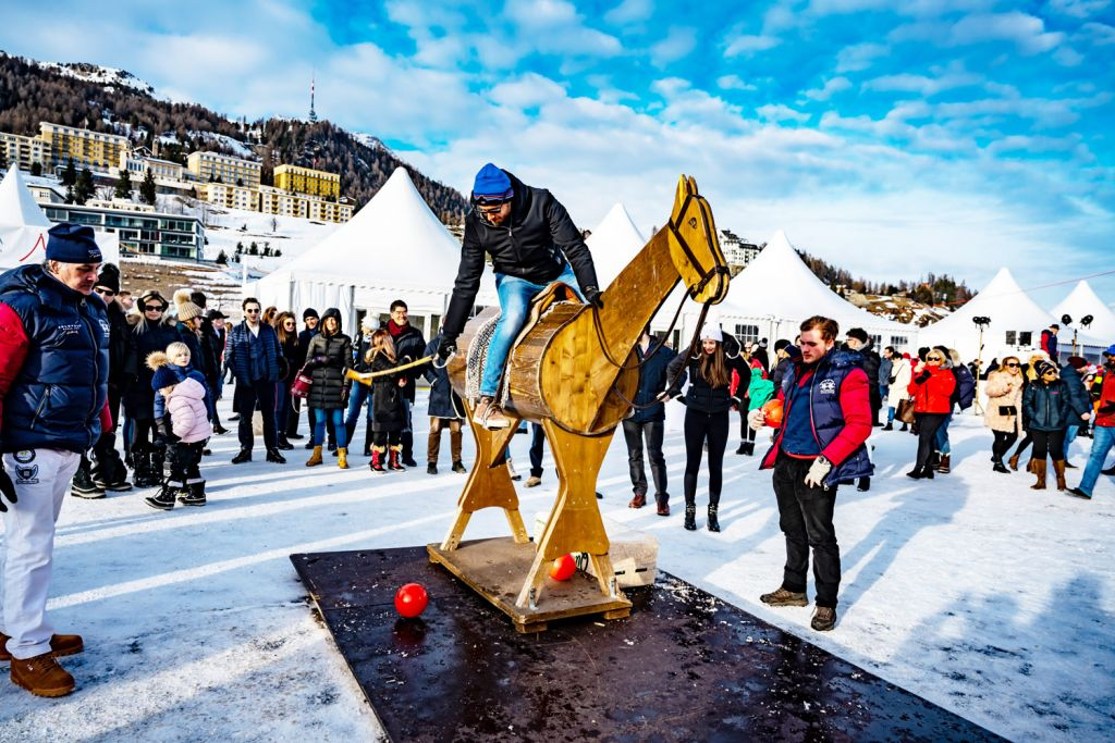 Second Day Action from the Snow Polo World Cup St. Moritz