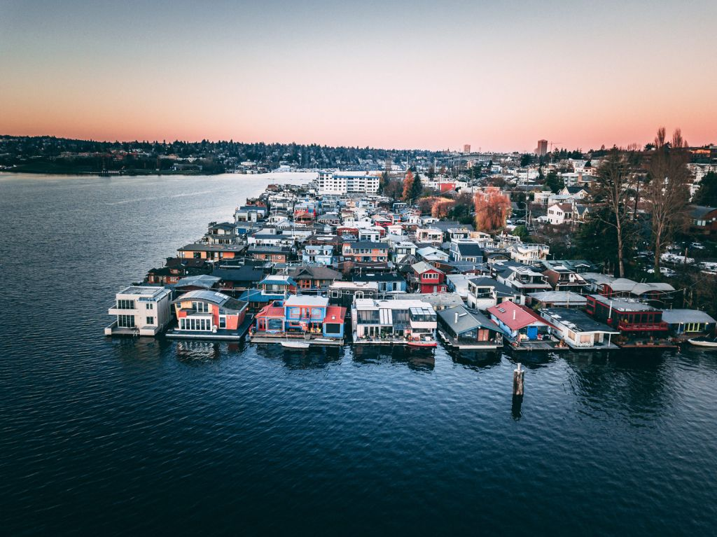South Lake Union Houseboats in Seattle
