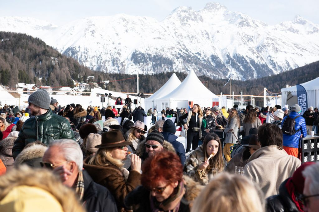 Spectators at the Snow Polo World Cup St. Moritz