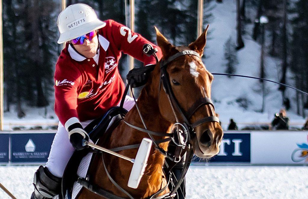 St Moritz Snow Polo Team in action