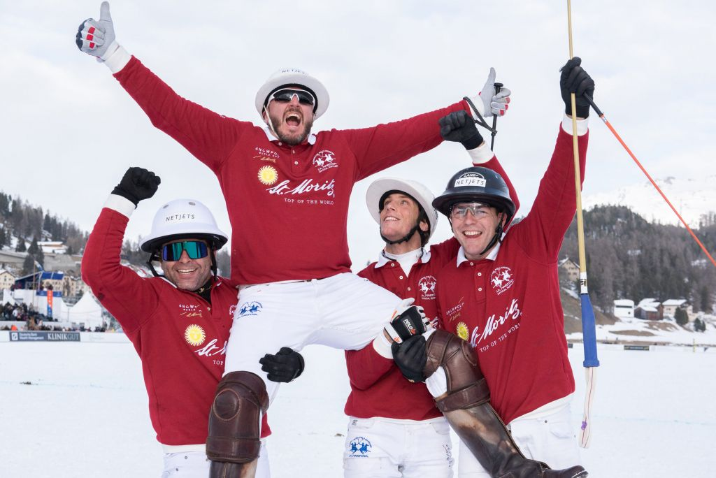 St. Moritz, winners of the Snow Polo World Cup St. Moritz 2020