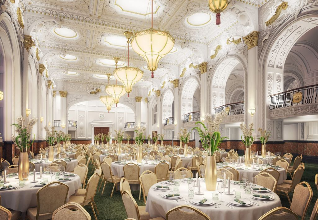 The Grand Hotel's dining room harks back to more glamorous times