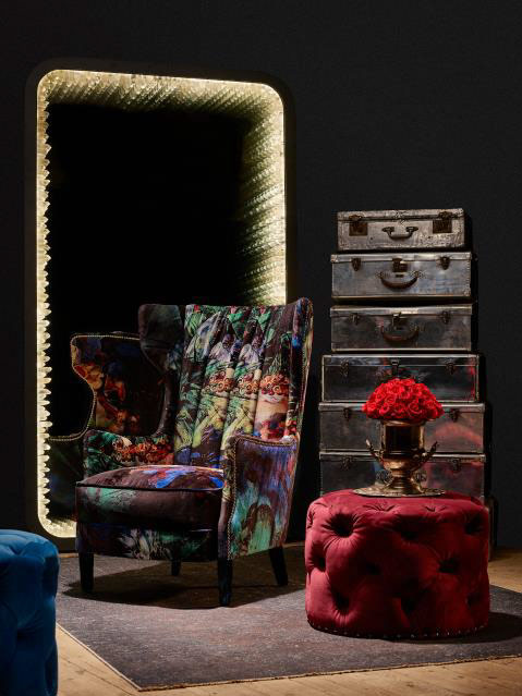 Timothy Oulton Manor Chair in Acid Jungle velvet