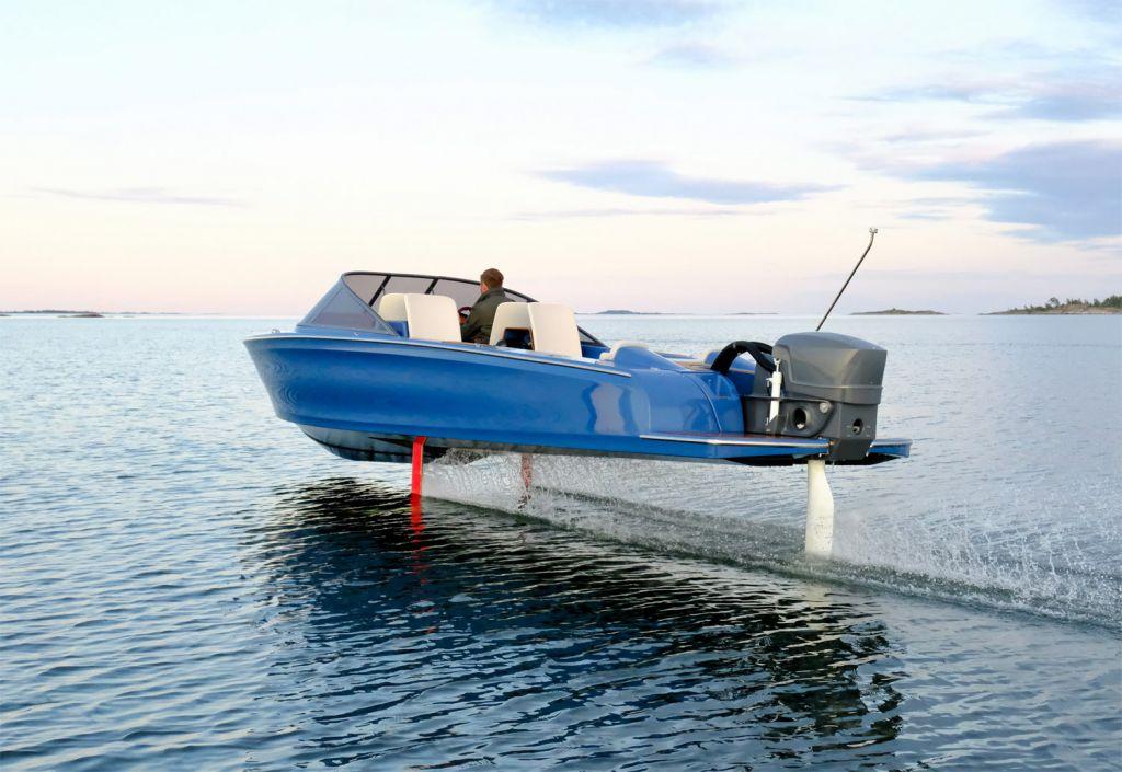 Torqeedo boat hydro planing