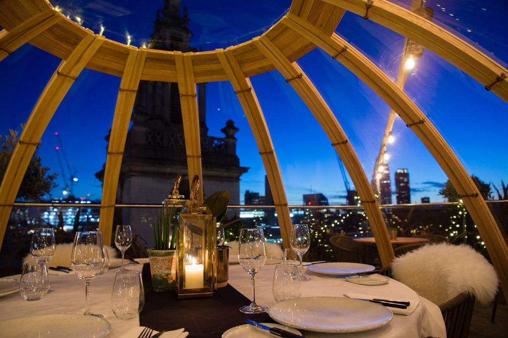 Vintry & Mercer pop-up Igloo the cosiest dining experience in London
