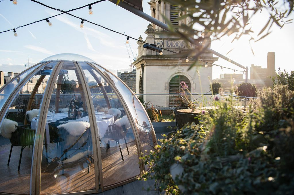 The Mercer Roof Terrace Launches Winter Igloo Pop-up