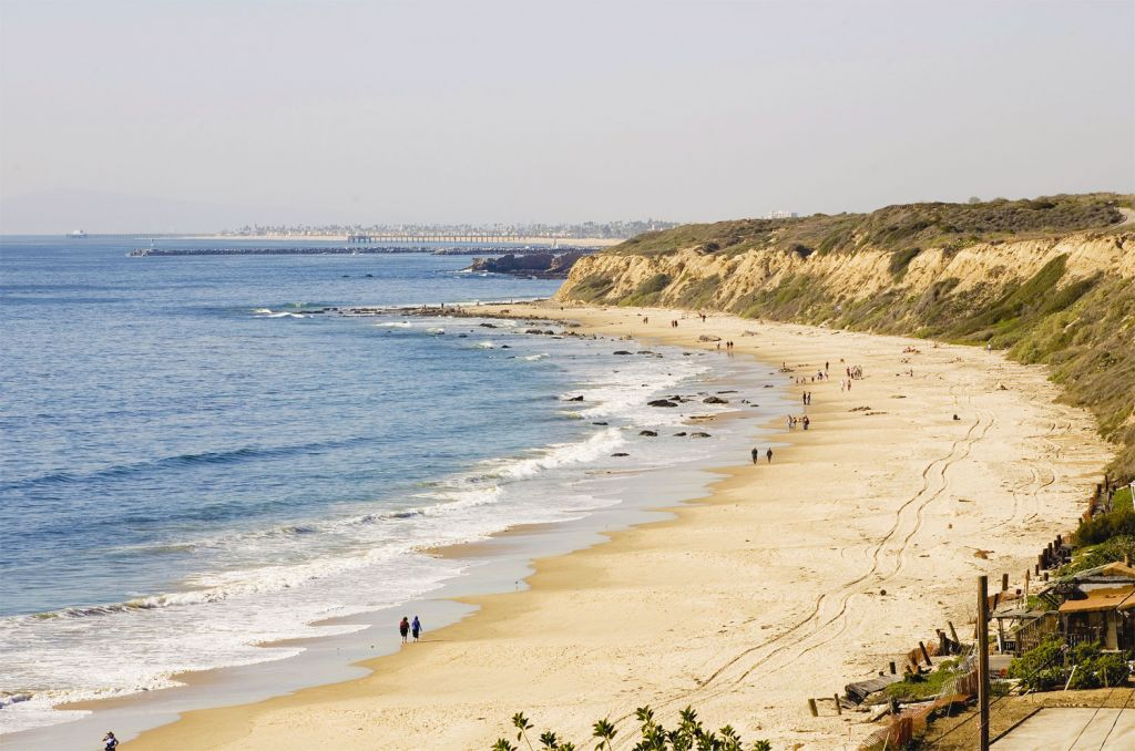 A beach walk in Newport Beach California