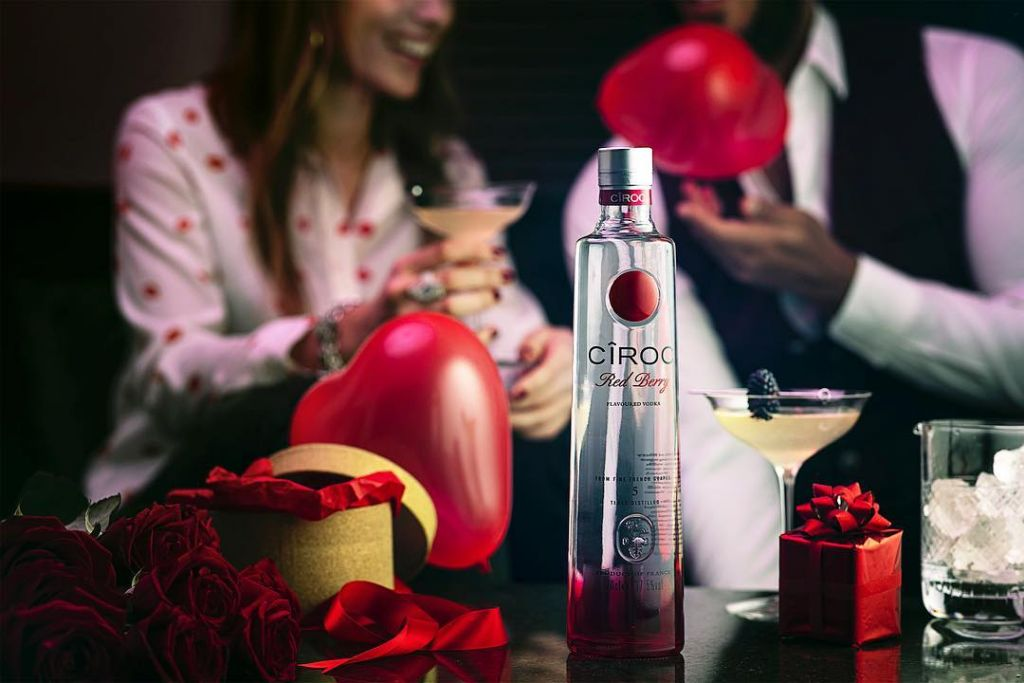 Ciroc Red Berry Vodka is a perfect drink for Valentine's Day