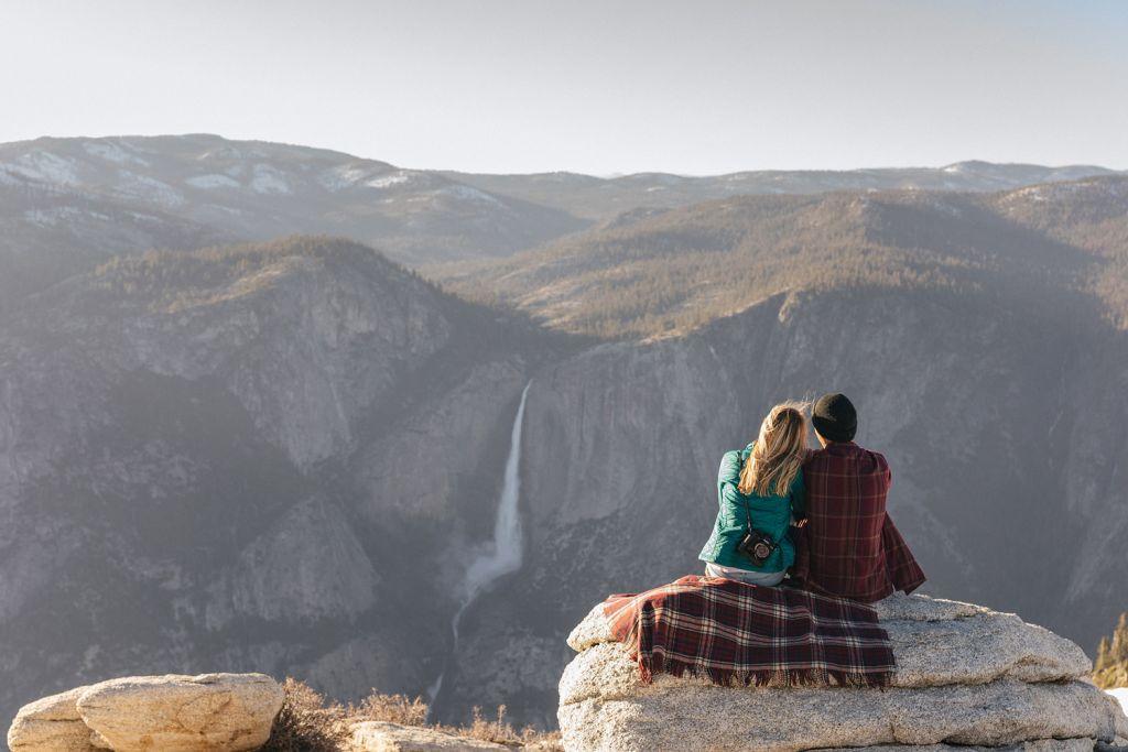 Couple enjoying the views in Yosemite Mariposa County