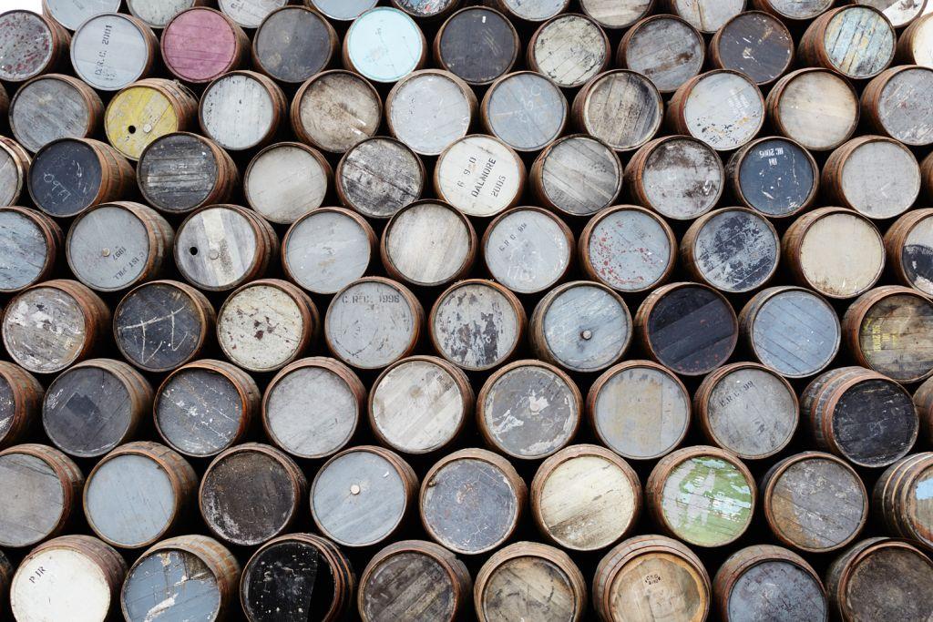 Barrels at the Craigellachie distillery