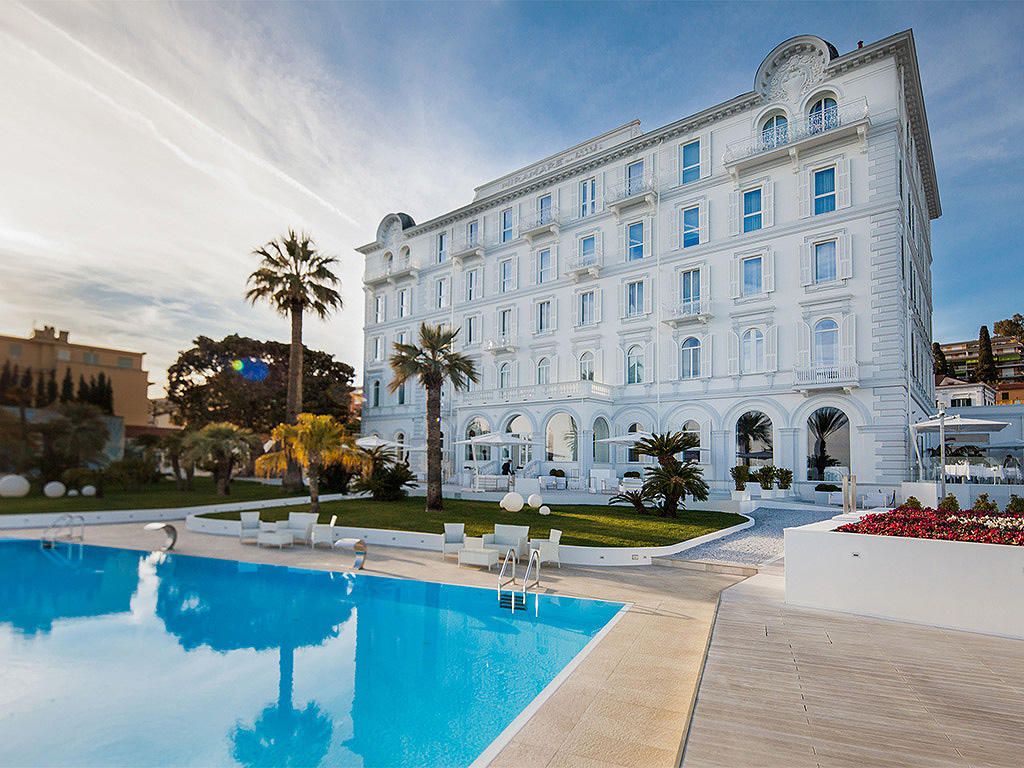 Exterior of the Miramare The Palace Hotel in Luguria Italy