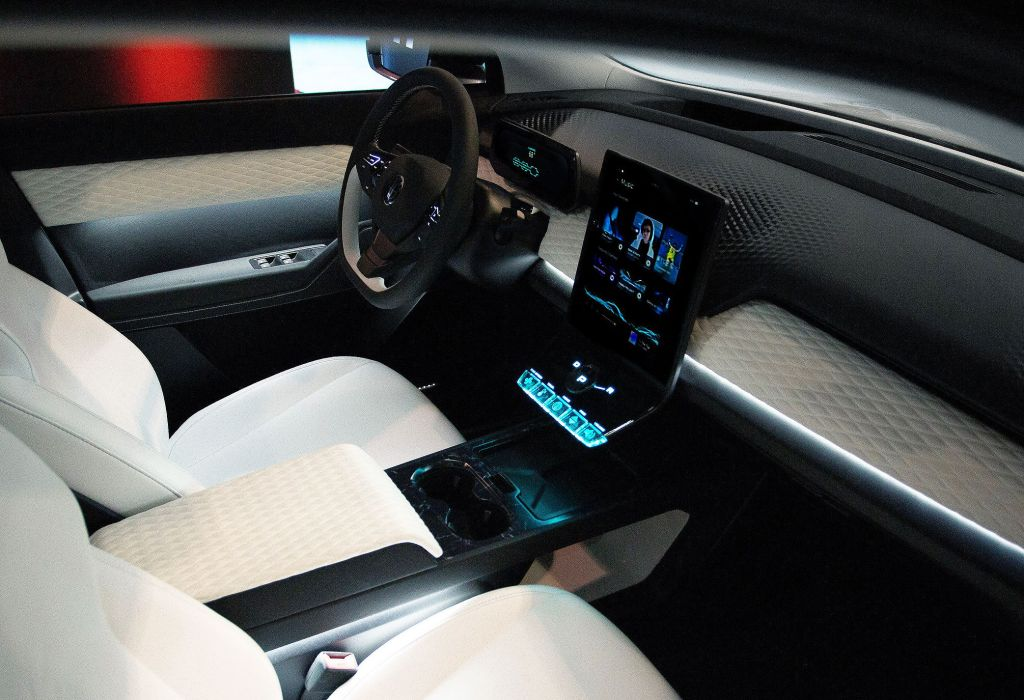 Fisker Ocean Interior and dashboard