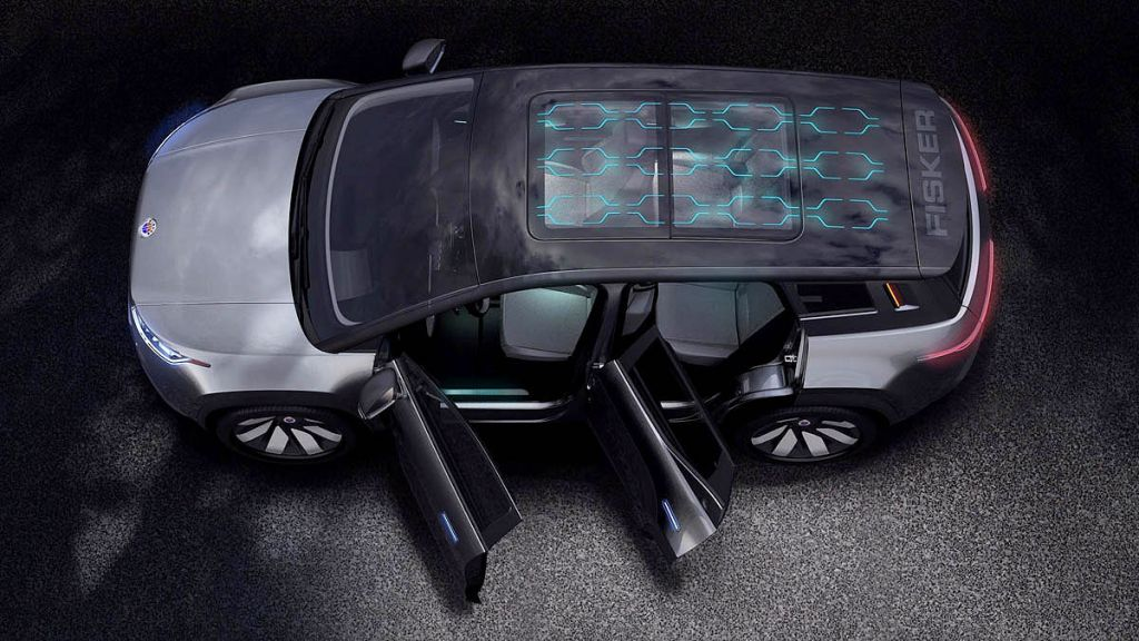Fisker Ocean full length solar roof