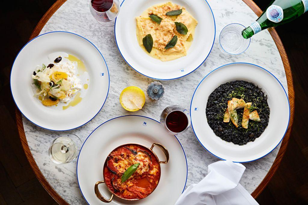 Food dishes at Chucs Belgravia