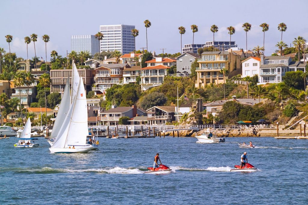 Fun on the water in Newport Beach California