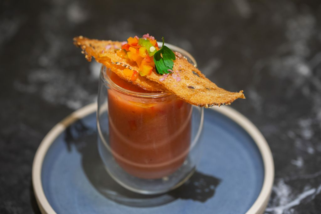 Gazpacho Andaluz at the Arado restaurant in London