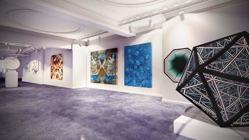 Inside the HOFA Gallery in Bruton Street Mayfair