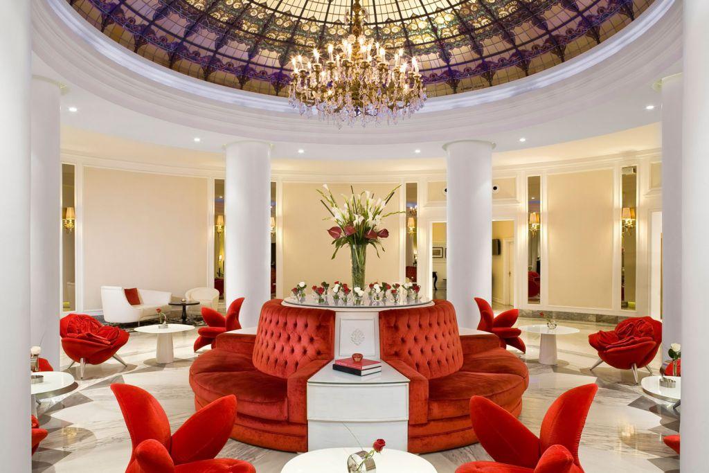 Lobby in the Hotel Colón Gran Meliá In Seville