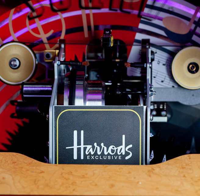 The Sound Leisure Peacock Jukebox is made exclusively for Harrods