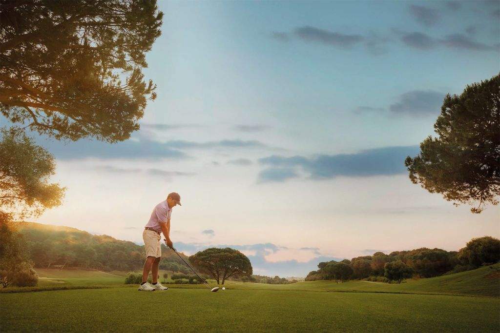 Playing at La Reserva Golf Club in Cadiz Spain