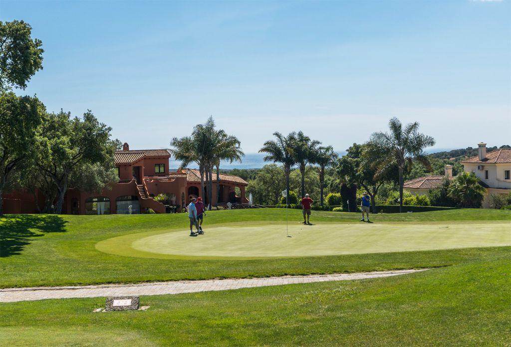 Playing at San Roque Golf Club Cadiz Spain
