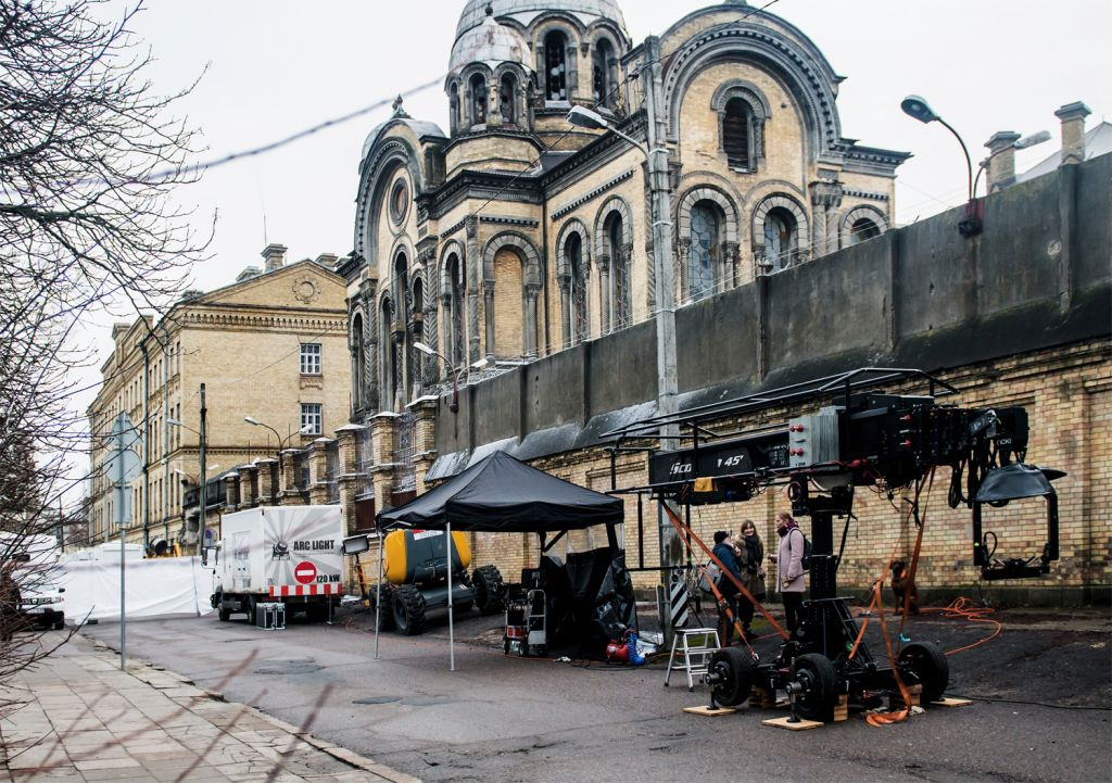 Stranger Things production crew in Vilnius Lithuania