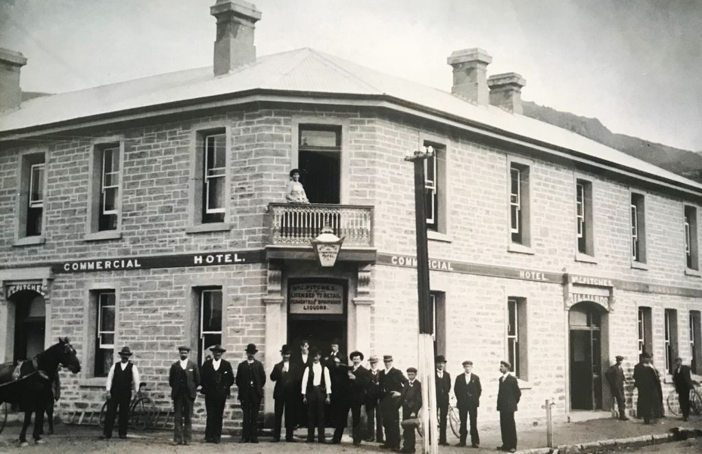 The old Hotel in Clyde in the 1800s