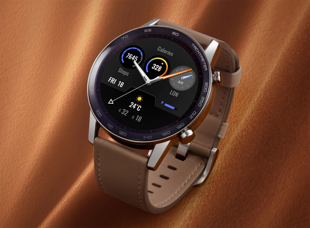 The HONOR MagicWatch 2 in Flax Brown