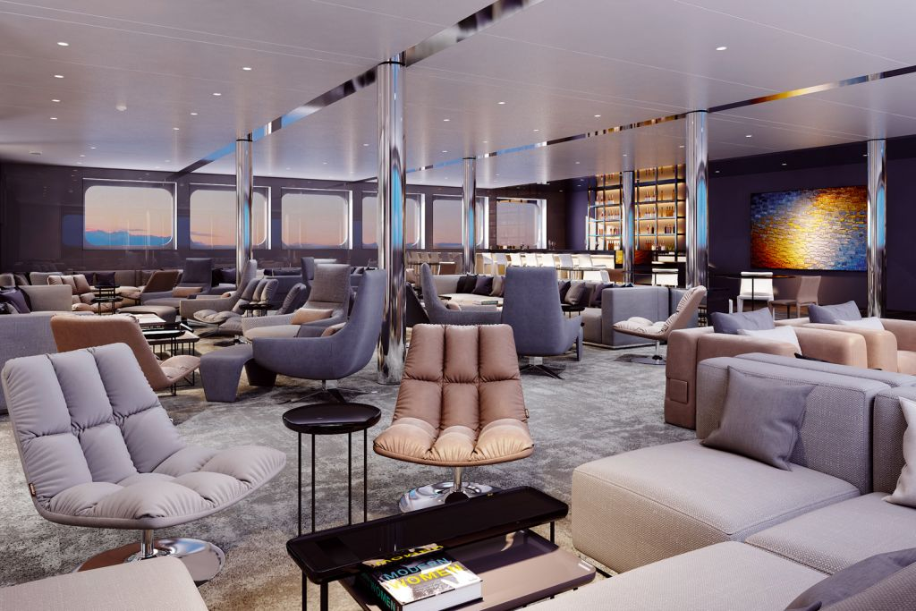 The Horizon Bar and lounge on the Emerald Azzurra