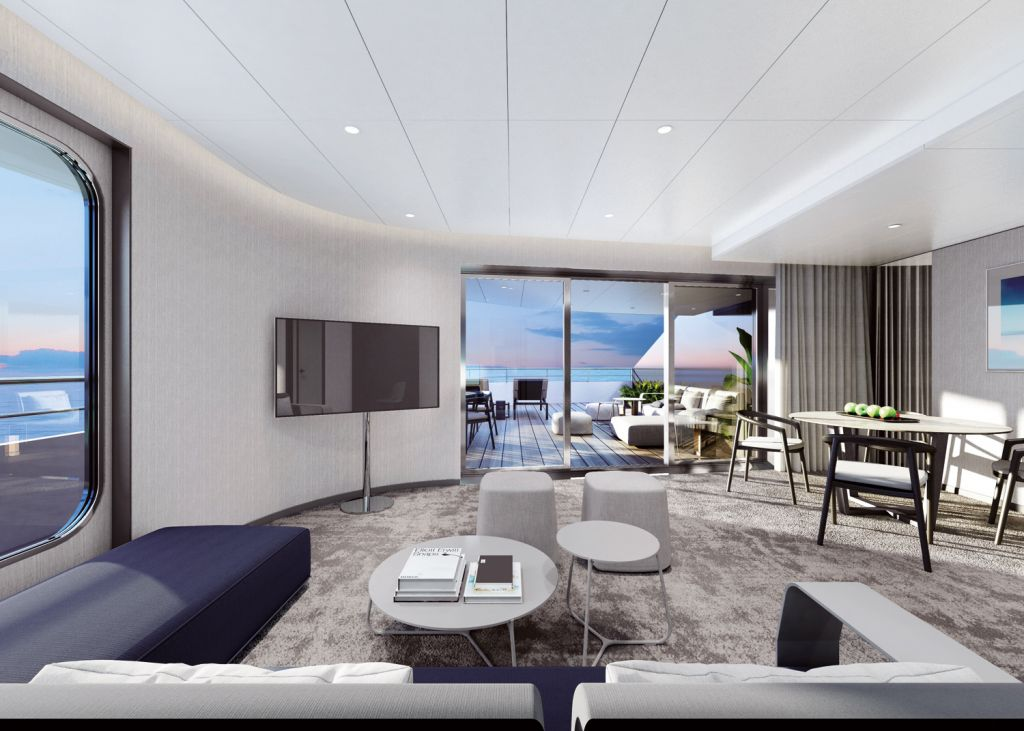The owners suite onboard the Emerald Azzurra Ocean Going Superyacht