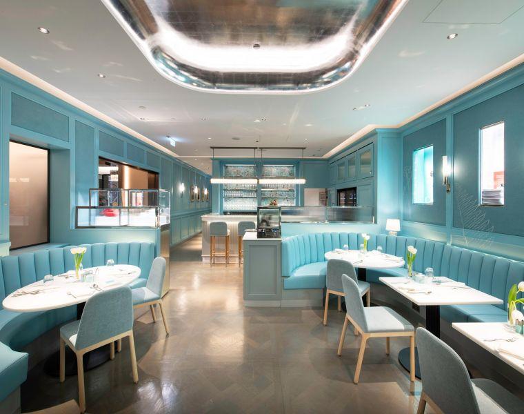 Tiffany's Blue Box Cafe in Harrods London
