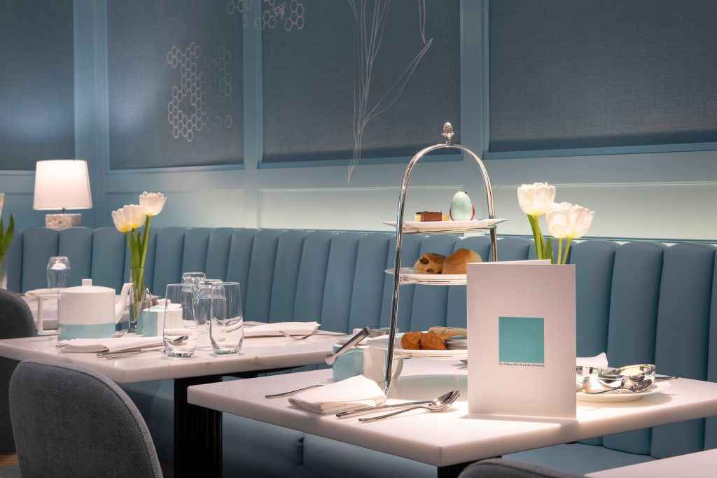 Tiffany's Blue Box Cafe in Harrods London