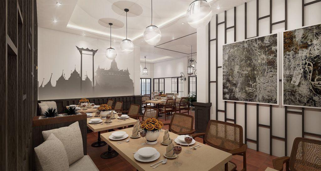 Villa De Pranakorn Guest House Bangkok restaurant and dining room
