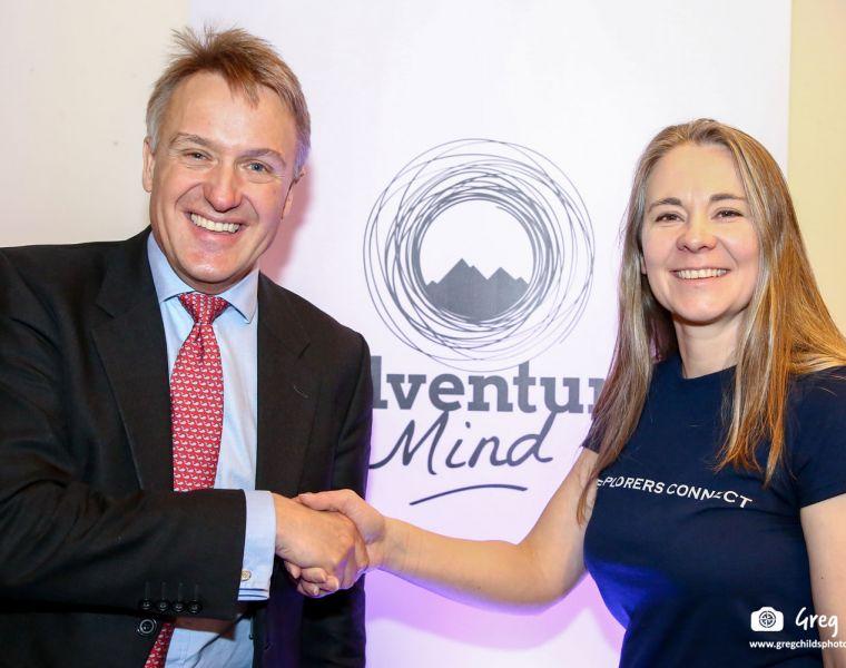 Adventure Mind 2020 Conference Sir Charles Walker KBE MP with Belinda Kirk