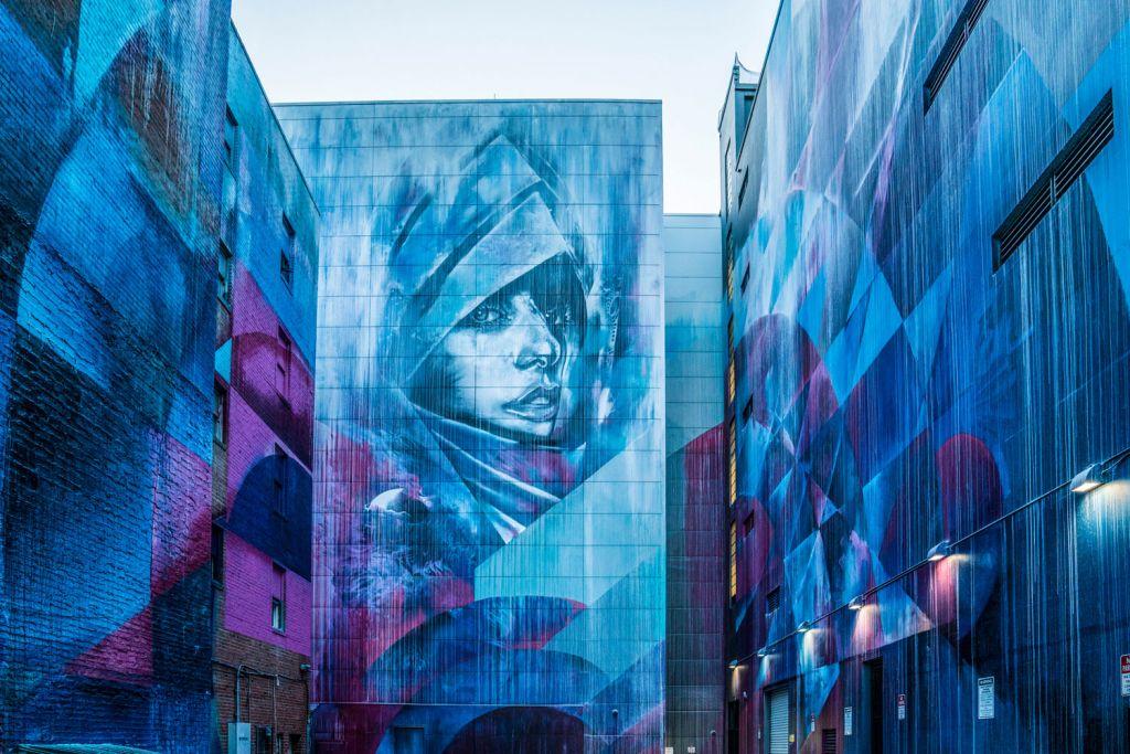 Amazing wall art in Sacramento