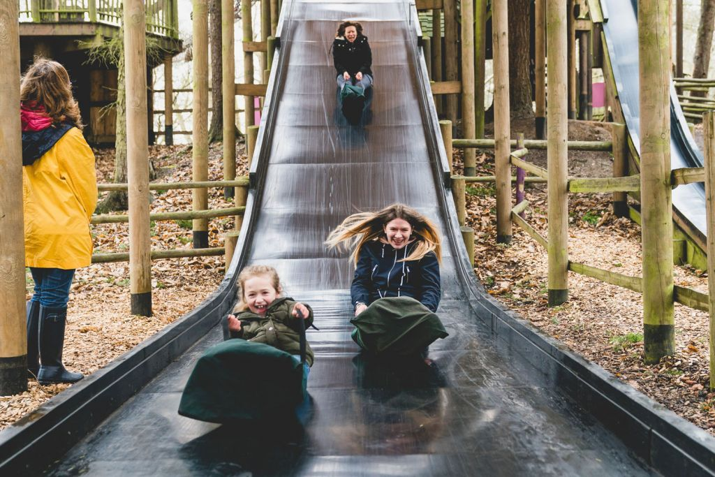 BeWILDerwood Cheshire slippery slopes slide