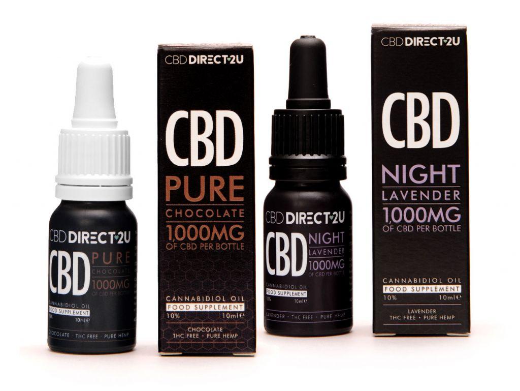 CBDDIRECT2U Pure chocolate and Night Lavender oil