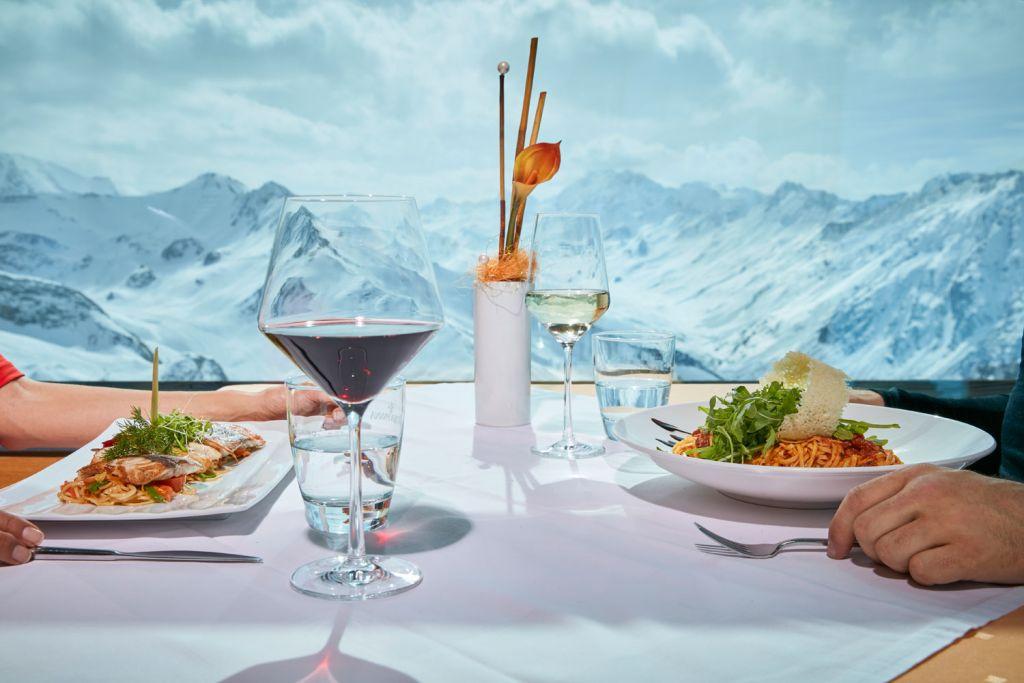 Fine restaurant dining in Ischgl Austria