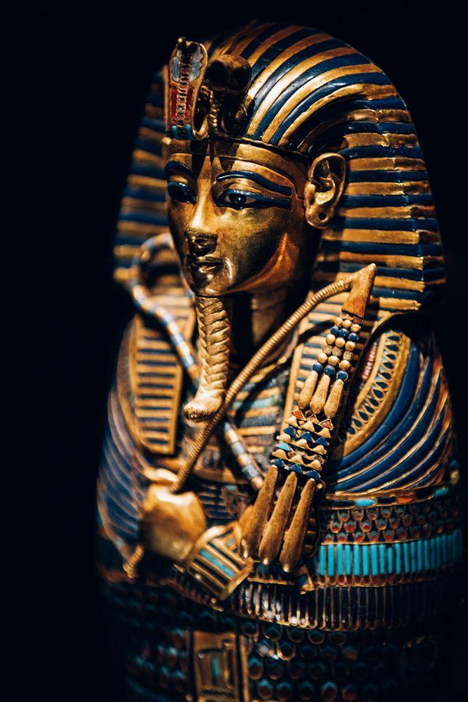 Gold Inlaid Canopic Coffinette of Tutankhamun Dedicated to Imseti and Isis