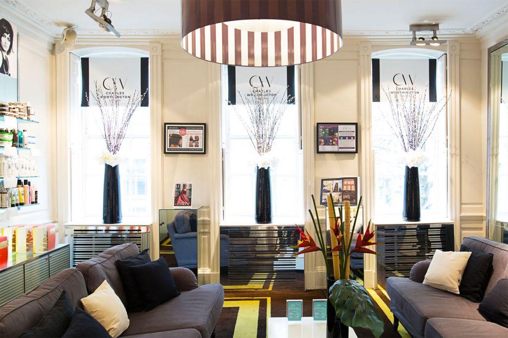 Inside the Charles Worthington salon in London