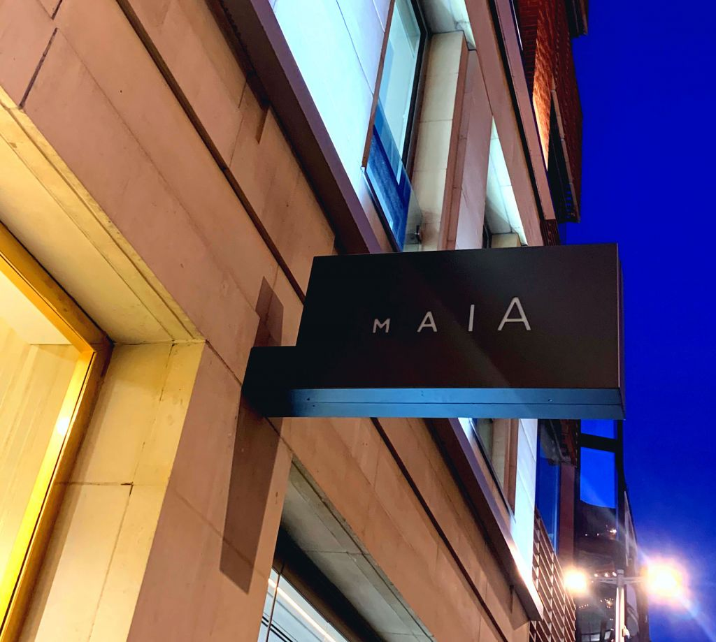 MAIA In Knightsbridge exterior signage