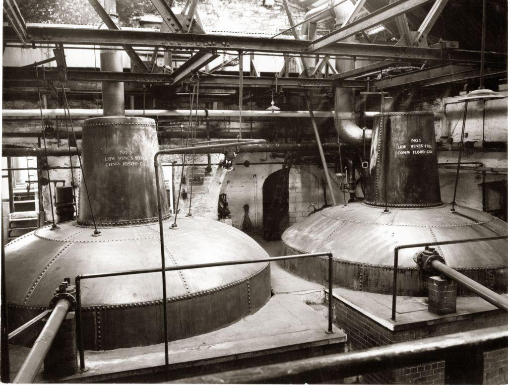 The potstills at Ireland's Midelton Distillery