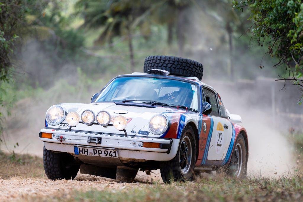 Porsche 911 in the Southern Cross Safari in Africa 2020