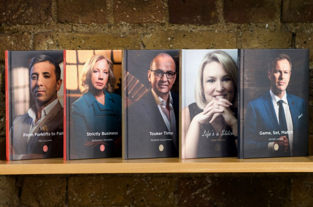 StoryTerrace Dragon's Den autobiographies