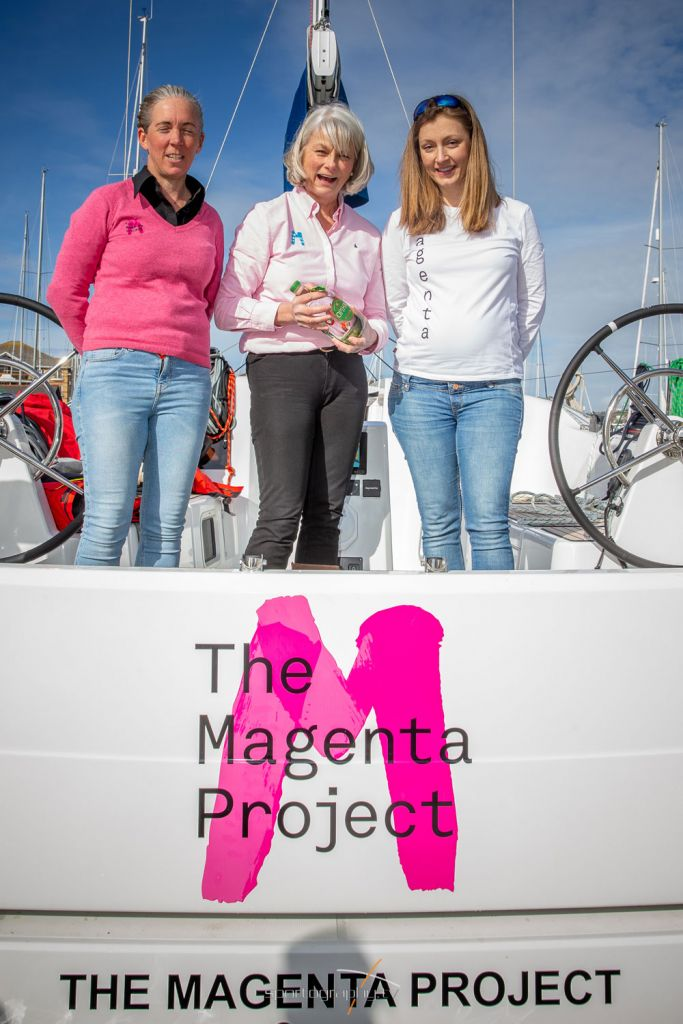 Ladies from the The Magenta Project
