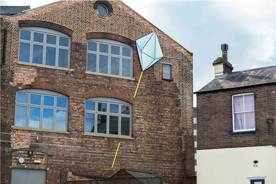 One of Luton's Most Iconic Buildings Gets a Giant Hat Pin