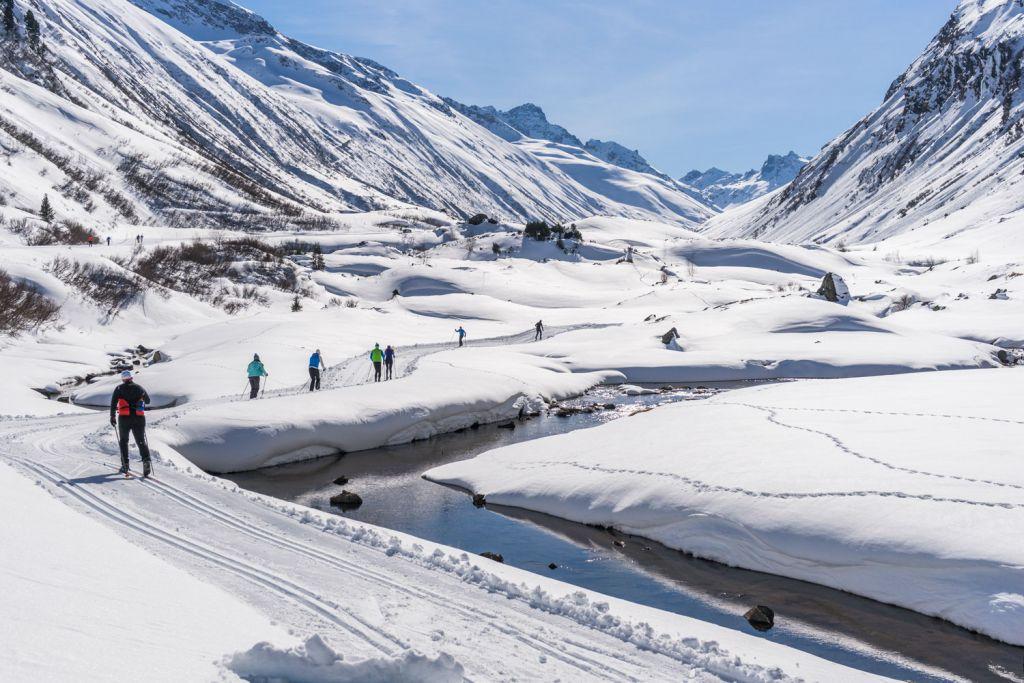 The stunning winter landscape in Ischgl Austria
