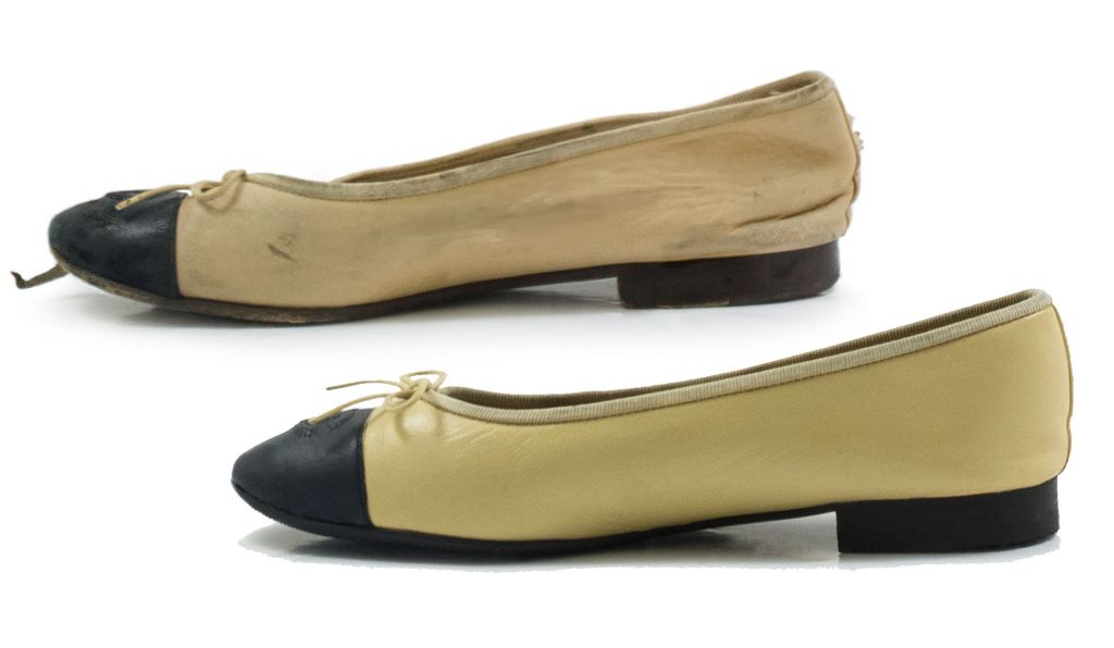 Vintage Chanel shoe restored by the ShoeSpa