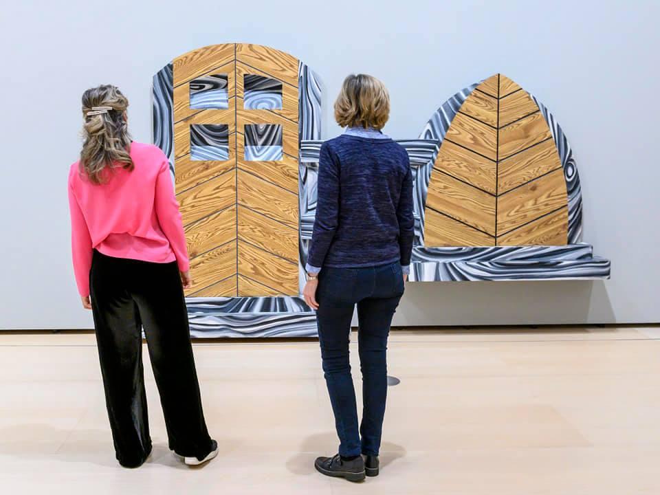 Visitors to the Guggenheim Museum Bilbao