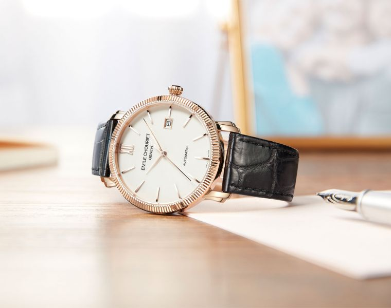 Emile Chouriet Unveils the Lac Léman Date in 18k Rose Gold